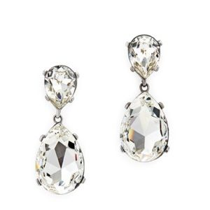 Kenneth Jay Lane Crystal Clear Drop earrings